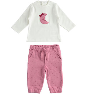 "Outfit with t-shirt and trousers with stars in 100% organic cotton ""organic capsule"""