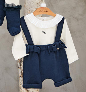 Short cut mesh dungarees, very soft and comfortable BLUE