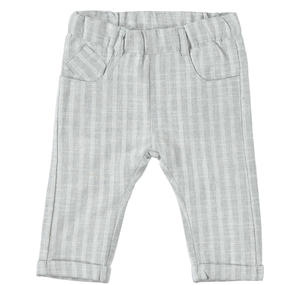 Comfortable and elegant, baby boy trousers in linen, cotton and viscose GREY