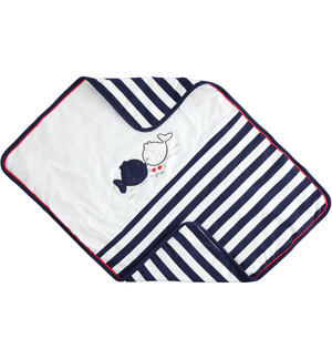 Striped pattern stretch cotton baby cradle blanket