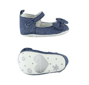 Lovely ceremony shoes for baby girl with bow BLUE