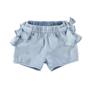Pretty denim shorts for baby girl 100% cotton BLUE