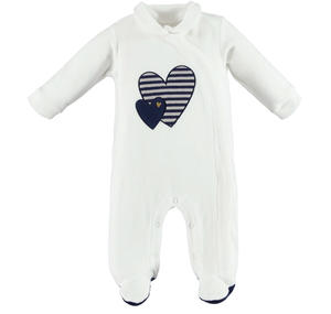 Sweet romper with hearts  CREAM