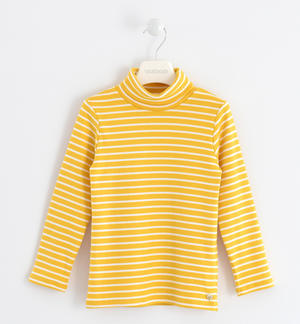 Turtleneck with a striped pattern YELLOW