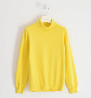 Cotton tricot turtleneck for boy YELLOW