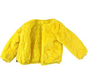 Reversible cotton padded faux fur  YELLOW