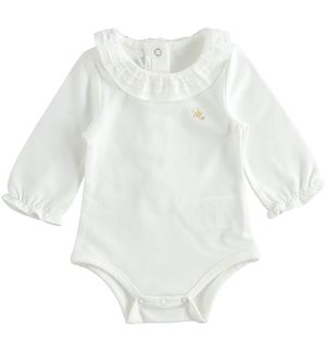 Elegant bodysuit for newborn girl CREAM