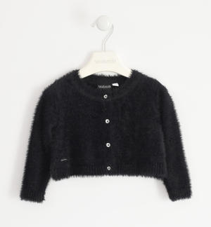 Elegant lurex cardigan for girl BLACK