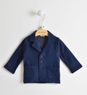 Elegant and comfortable long-sleeved jacket baby boy 100% cotton BLUE
