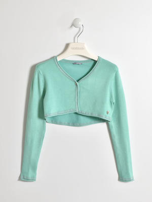 Stylish and comfortable girls' tricot viscose shrug GREEN