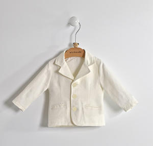 Elegant and refined baby jacket with buttons closure CREAM