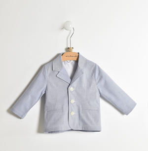 Elegant and refined baby jacket with buttons closure BLUE