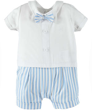 Elegant and cute 100% cotton baby boy romper suit WHITE