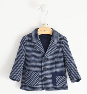 Elegant jacket in heavy houndstooth