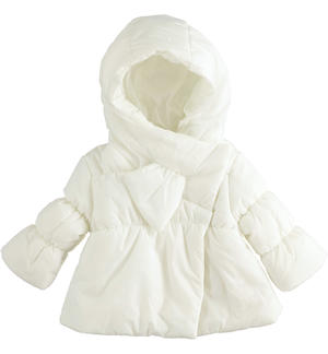 Soft nylon jacket with double closure CREAM