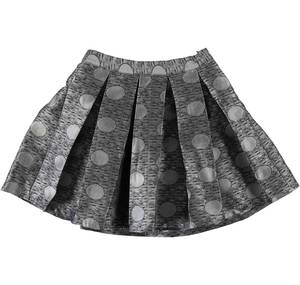 Box-pleat skirt with dot and lurex pattern GREY