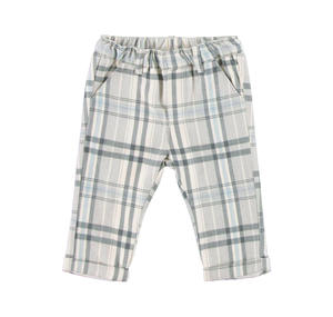 Elegant checked flannel trousers GREY