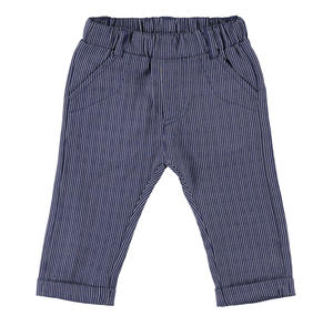 Elegant pinstripe ceremony trousers for baby boy BLUE