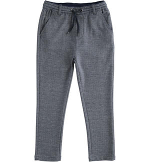 Elegant trousers with drawstring BLUE