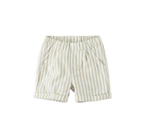 Elegant trousers baby boy with stripes and an all-elastic waistband BEIGE