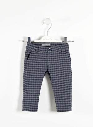 Elegant checked trousers  GREY