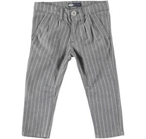 Pinstriped trousers in a refined fabric GREY