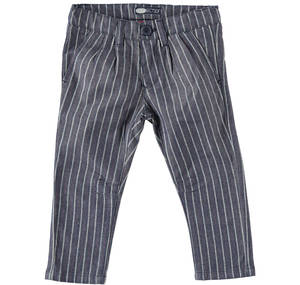 Pinstriped trousers in a refined fabric BLUE