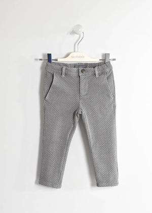 Elegant trousers in non brushed fleece  GREY