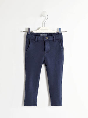 Elegant trousers in non brushed fleece  BLUE