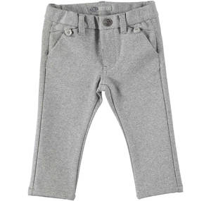 Elegant armure fabric trousers GREY