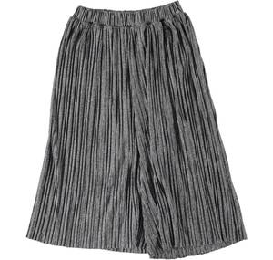 Gaucho model trousers in pleated jersey for girls GREY