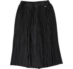 Gaucho model trousers in pleated jersey for girls BLACK