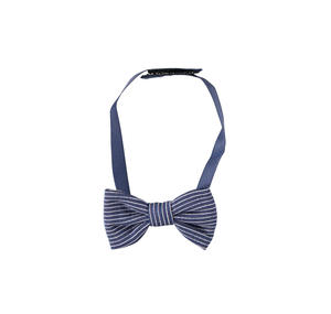 Elegant pinstripe ceremony bow tie for newborn with velcro closure BLUE