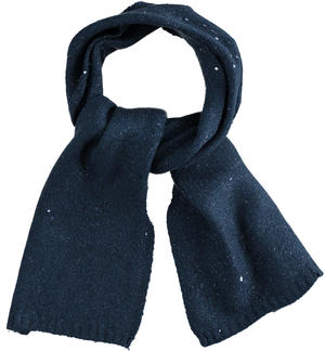 Elegant tricot scarf with micro sequins BLUE