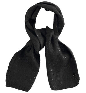 Elegant tricot scarf with micro sequins