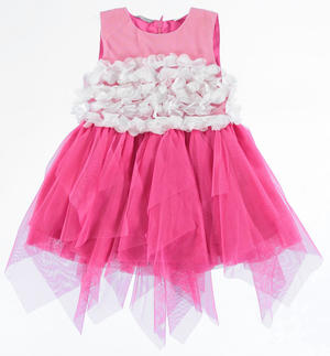 Elegant little dress with fitted tulle bodice PINK