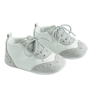 Elegant faux leather baby boy shoes GREY