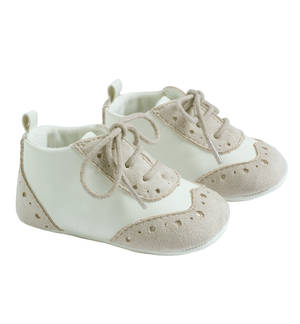 Elegant faux leather baby boy shoes BEIGE