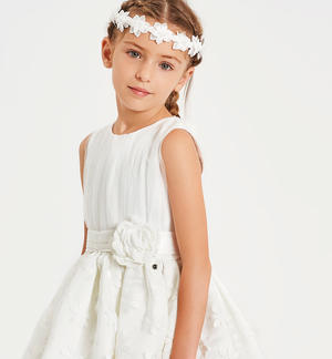Very elegant tulle and organza dress CREAM