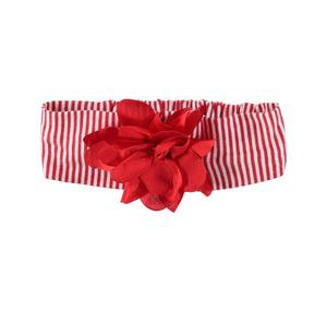 100% cotton baby girl headband with vertical stripes RED