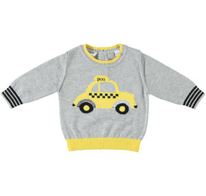 Long sleeve sweatshirt for baby boy 100% cotton GREY
