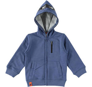 Open hoodie decorated with DJ earphones BLUE
