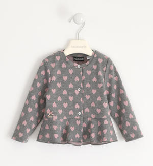 Open sweatshirt with hearts