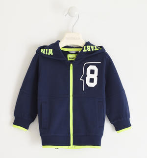 Hooded sweatshirt with a number BLUE
