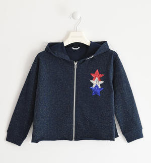 Sweatshirt with sequin stars BLUE