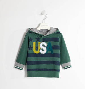 USA hoodie for boys GREEN