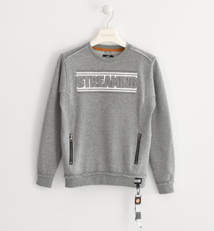 Sweatshirt with relief pattern on the front GREY