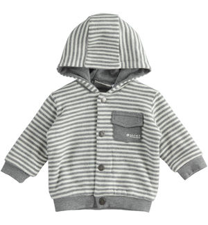 Hooded sweatshirt for newborn boy GREY