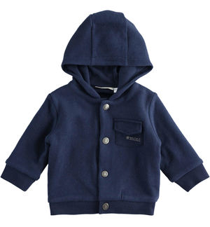 Hooded sweatshirt for newborn boy BLUE