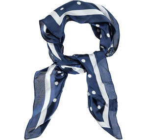 Polka dot hair band and scarf BLUE